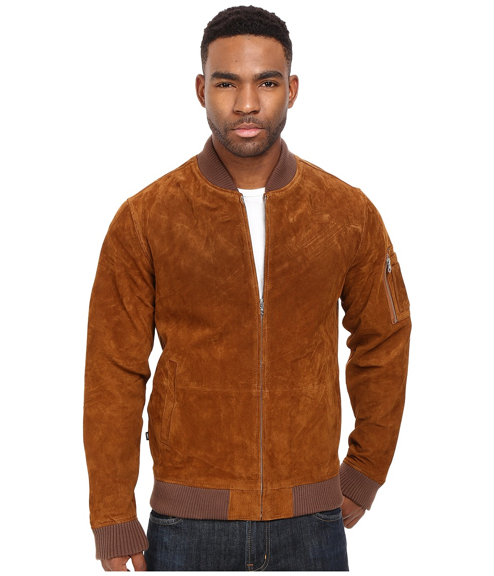 Obey - Pilot Suede Jacket (Caramel) Men's Coat