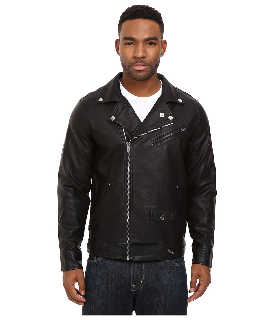 Obey - Bastards PU Jacket (Black) Men's Coat