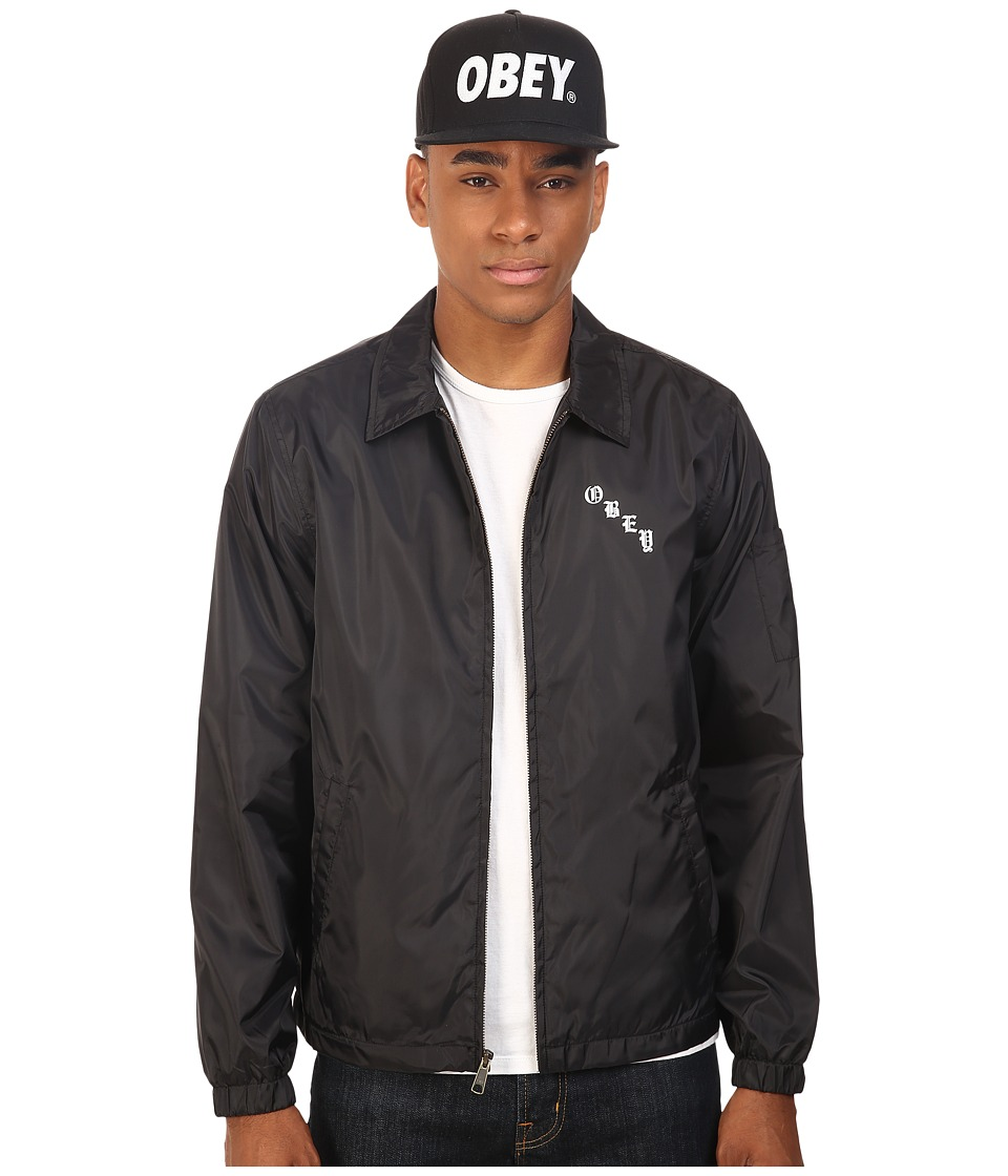 Obey - Spider Rose Graphic Jacket (Black) Men's Coat