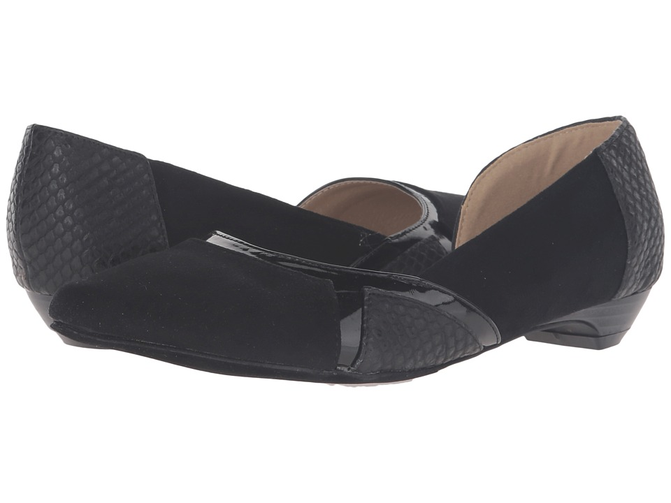 C Label - Hudson-32 (Black) Women's Dress Flat Shoes