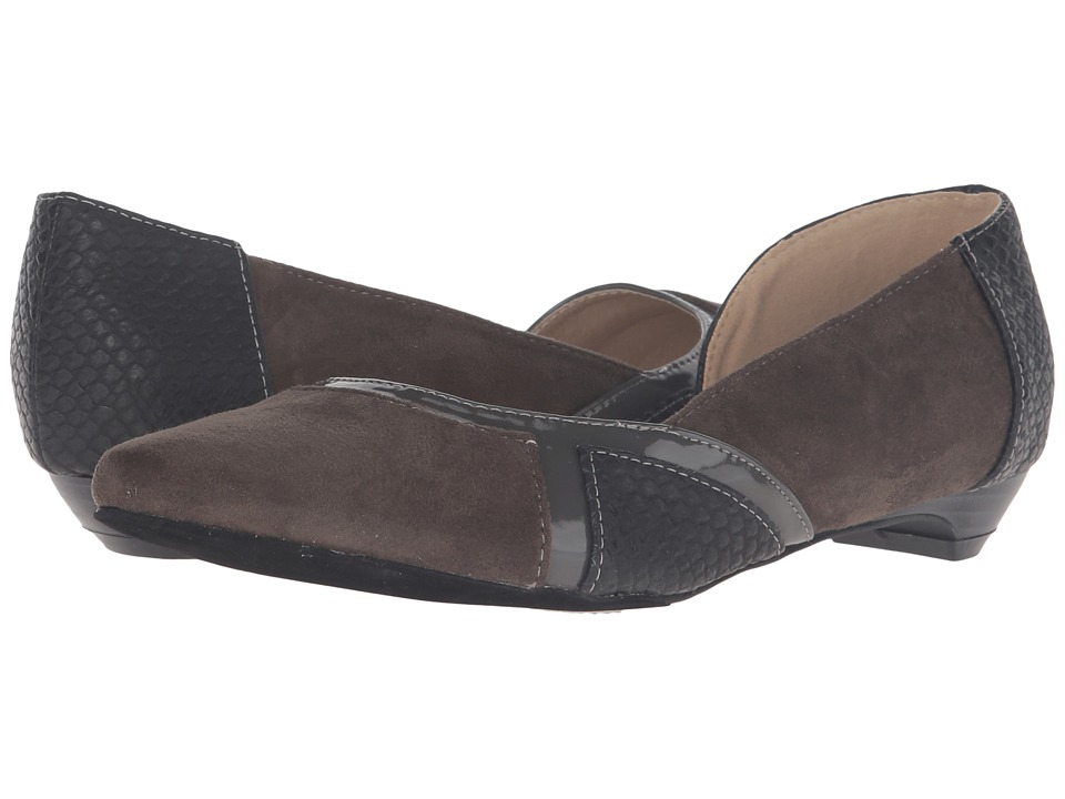 C Label - Hudson-32 (Dark Grey) Women's Dress Flat Shoes