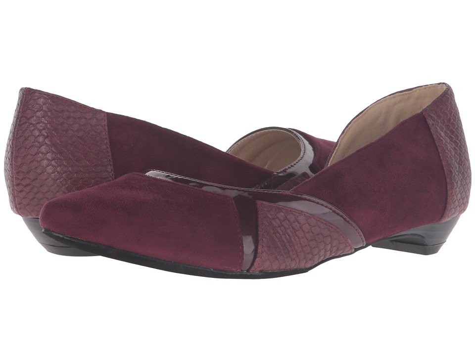 C Label - Hudson-32 (Wine) Women's Dress Flat Shoes