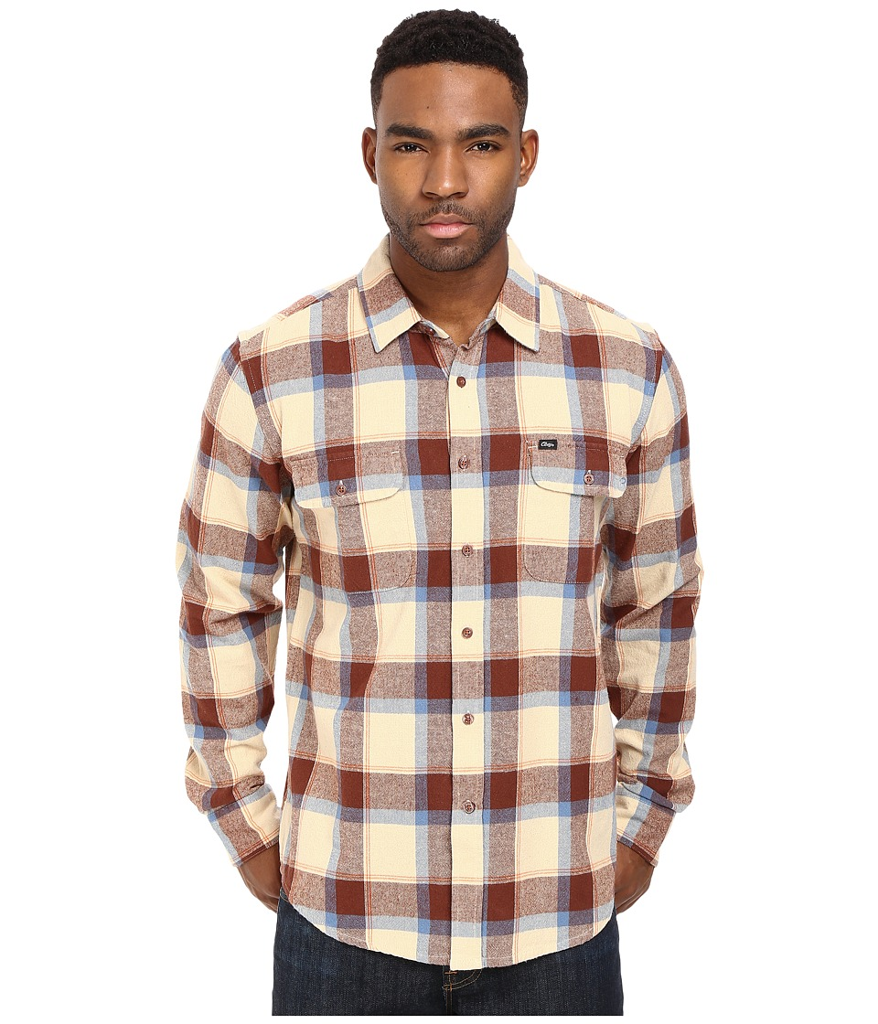 Obey - Gower Woven (Khaki) Men's Clothing