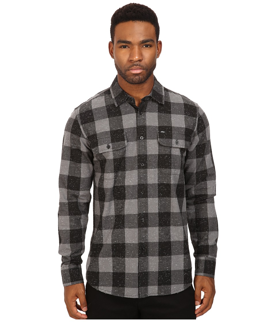 Obey - Drifter Woven (Charcoal) Men's Clothing