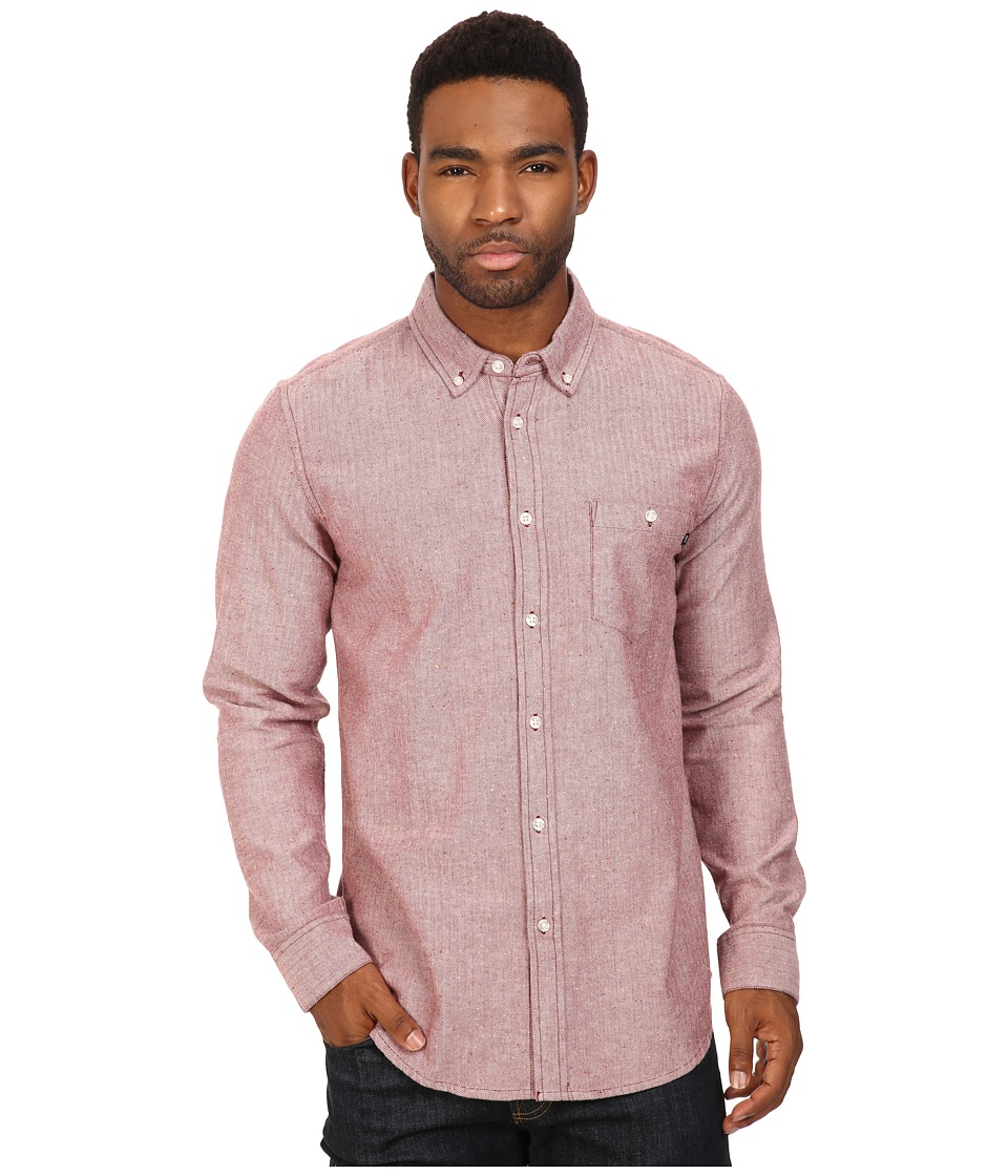 Obey - Wiseman Woven (Burgundy Multi) Men's Clothing