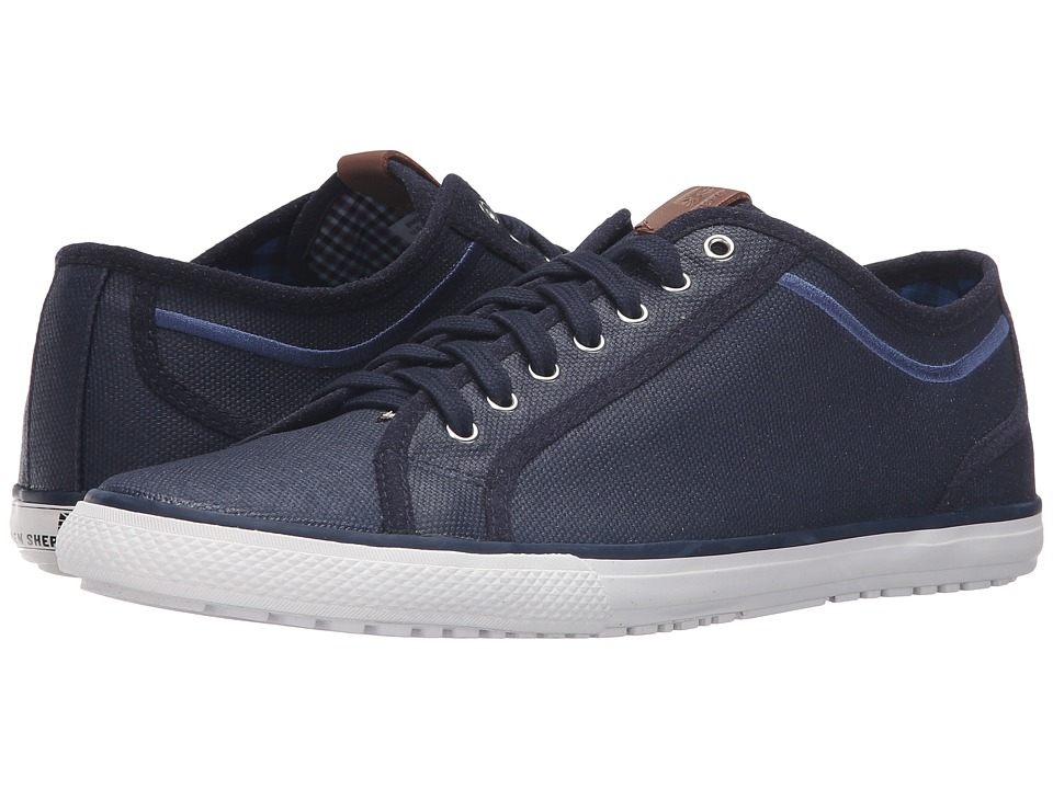 Ben Sherman - Chandler Lo - Coated Canvas (Navy) Men's Lace up casual Shoes