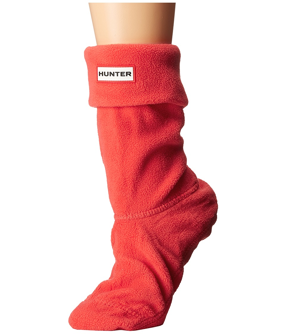 Hunter - Short Boot Socks (Bright Coral) Women's Crew Cut Socks Shoes