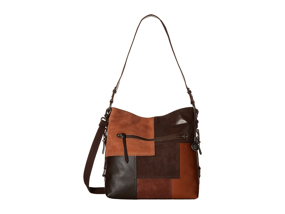 The Sak - Sanibel Bucket (Brown Patch) Satchel Handbags