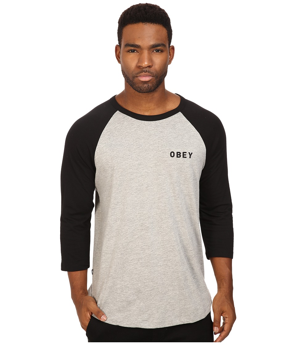 Obey Afton Raglan Tee (Black) Men