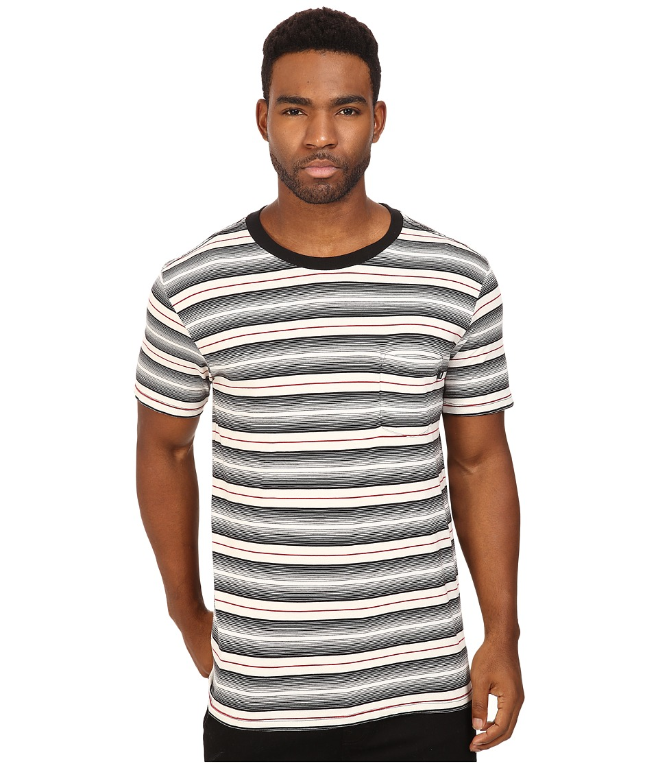 Obey Croft Pocket Tee (Black Multi) Men