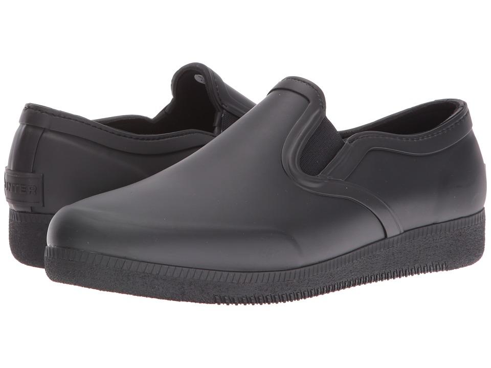 Hunter - Original Refined Plimsoll (Black) Women's Shoes