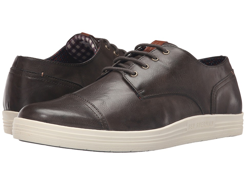 Ben Sherman - Payton Cap Toe (Olive) Men's Lace up casual Shoes
