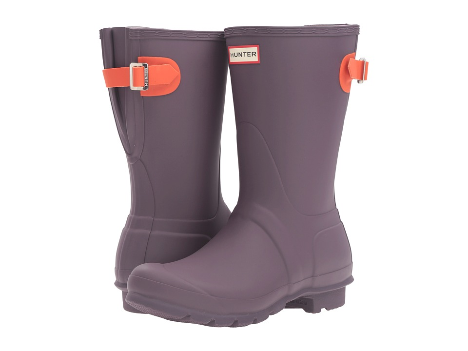 Hunter - Original Back Adjustable Short (Purple Urchin/Scallop) Women's Rain Boots