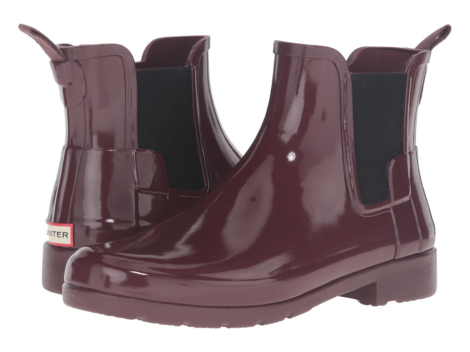 Hunter - Original Refined Chelsea Gloss (Dulse) Women's Rain Boots