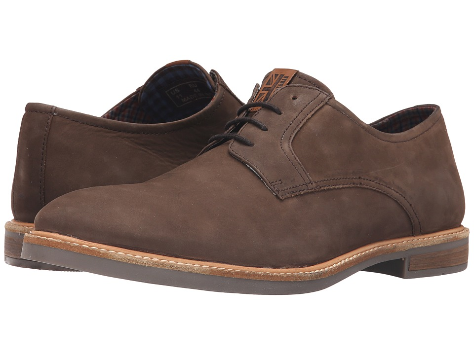 Ben Sherman - Birk Plain Toe (Brown) Men's Lace up casual Shoes