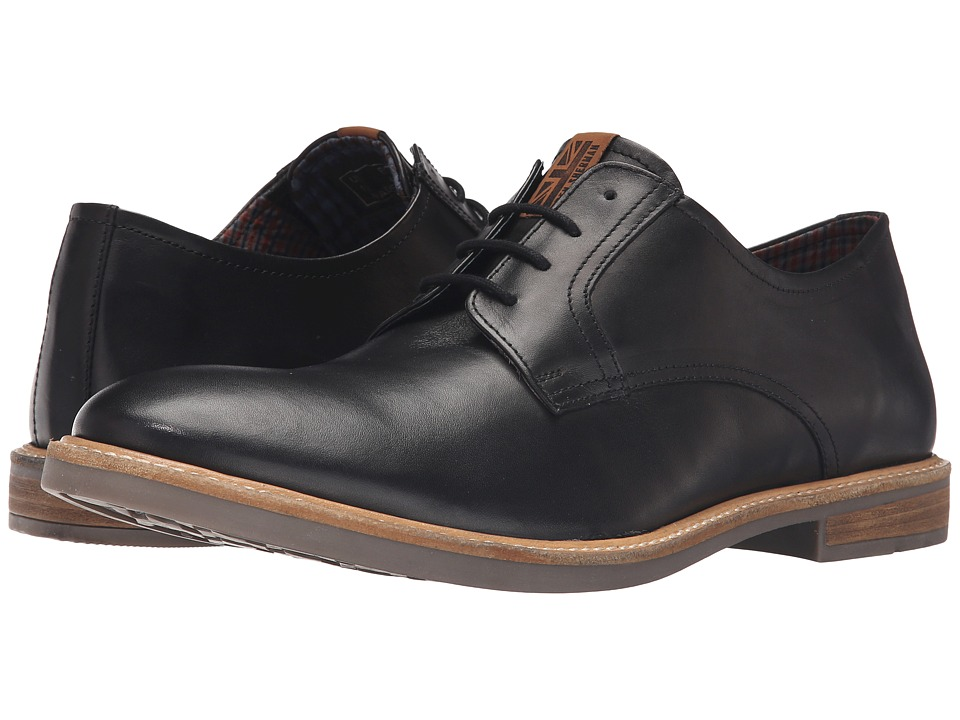 Ben Sherman - Birk Plain Toe (Black) Men's Lace up casual Shoes
