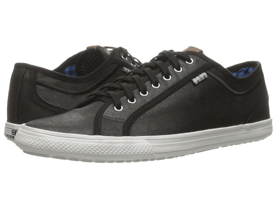 Ben Sherman - Chandler Lo - Coated Canvas (Black) Men's Lace up casual Shoes