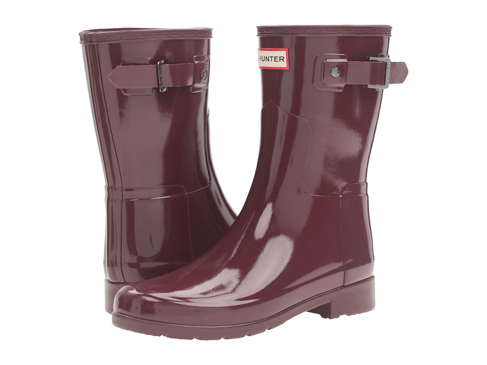 Hunter - Original Refined Short Gloss (Dulse) Women's Rain Boots
