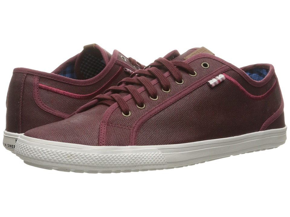 Ben Sherman Chandler Lo Coated Canvas (Burgundy) Men