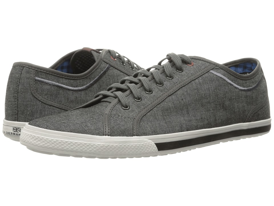 Ben Sherman - Chandler Lo - Coated Canvas (Grey Chambray) Men's Lace up casual Shoes