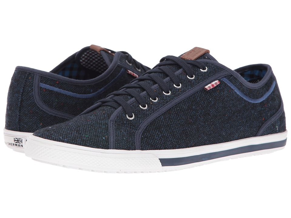 Ben Sherman - Chandler Lo - Coated Canvas (Navy Blazer) Men's Lace up casual Shoes