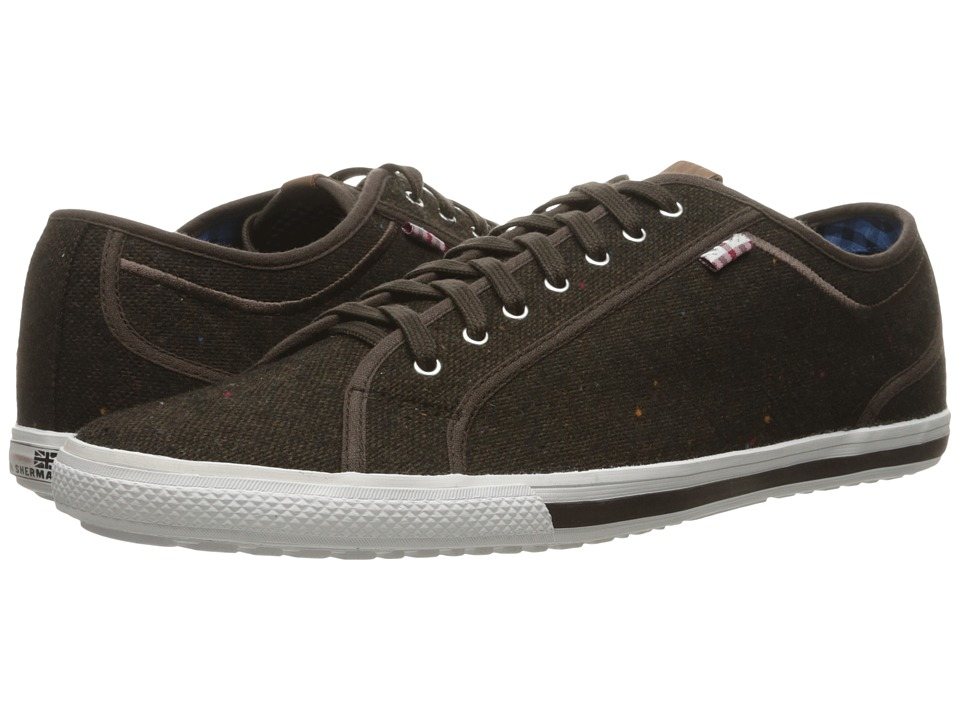 Ben Sherman - Chandler Lo - Coated Canvas (Brown) Men's Lace up casual Shoes