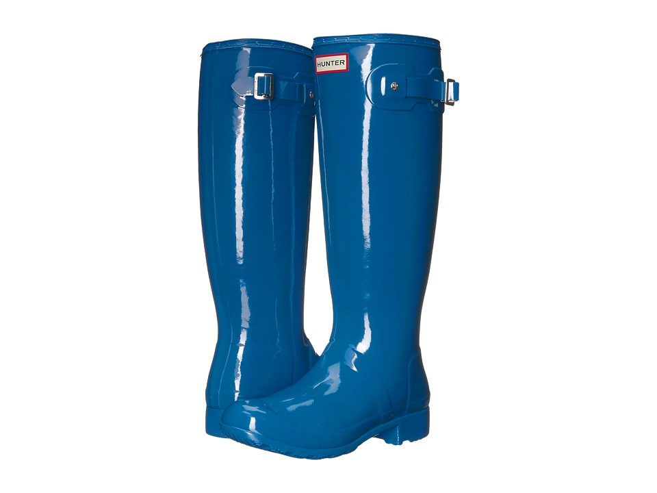 Hunter - Original Tour Gloss (Azure) Women's Rain Boots