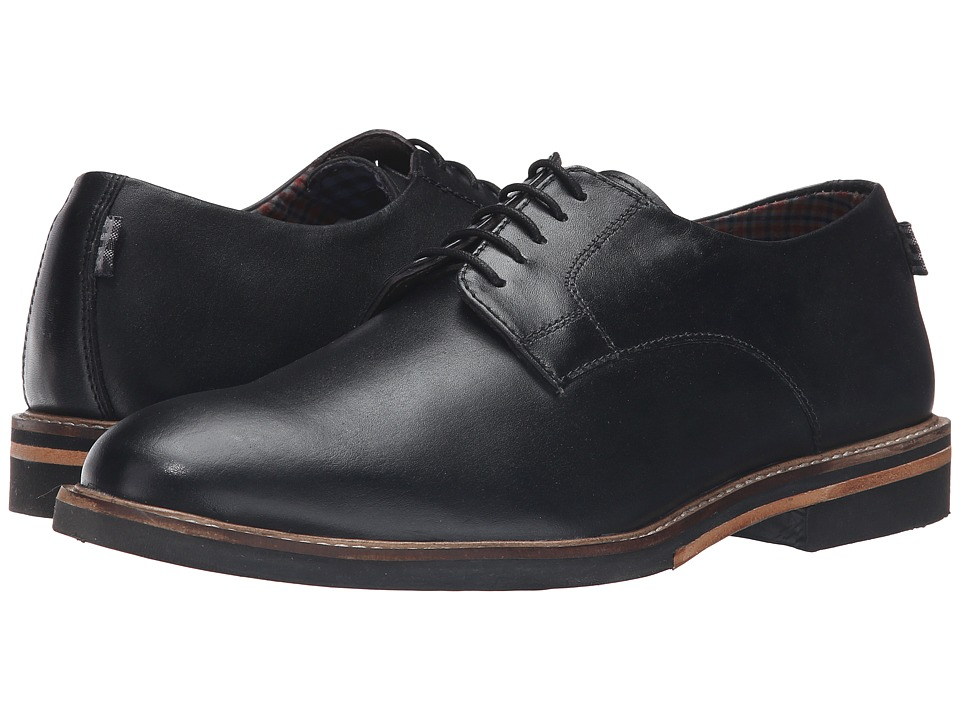 Ben Sherman - Julian Plain Toe (Black) Men's Lace up casual Shoes