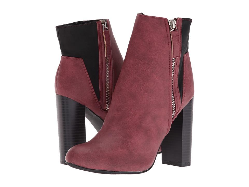 C Label - Spade-5 (Wine) Women's Boots