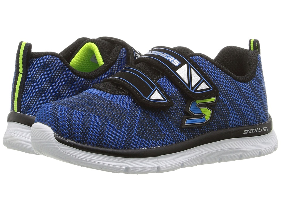 SKECHERS KIDS - Flexies Comfy Stepz (Toddler/Little Kid) (Navy/Blue) Boy's Shoes