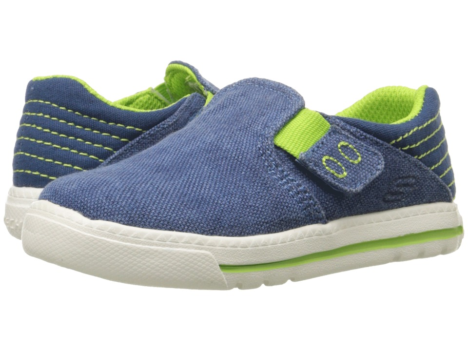 SKECHERS KIDS - Lil Lad Studdly (Toddler/Little Kid) (Blue/Lime) Boy's Shoes