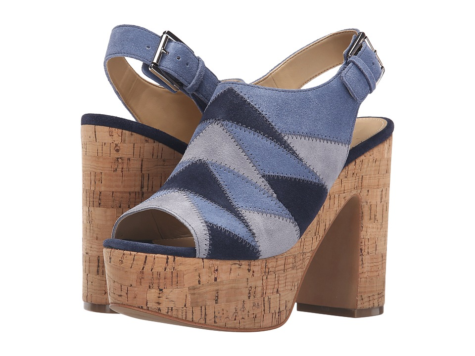 Marc Fisher LTD - Queenie (Blue Multi Suede) Women's Shoes