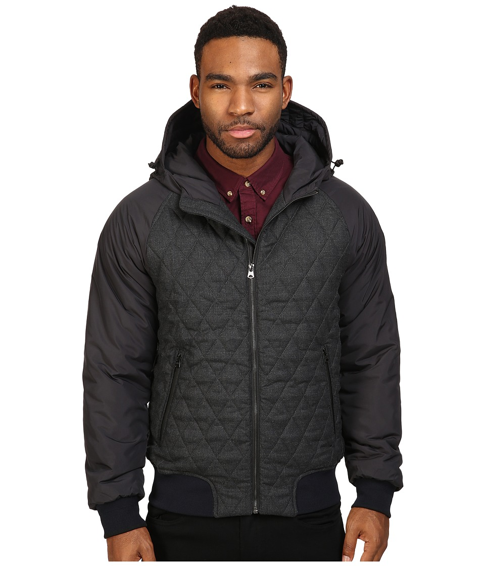 Scotch & Soda - Short Quilted Jacket in Mix Match Wool and Nylon Quality (Graphite Black) Men's Coat