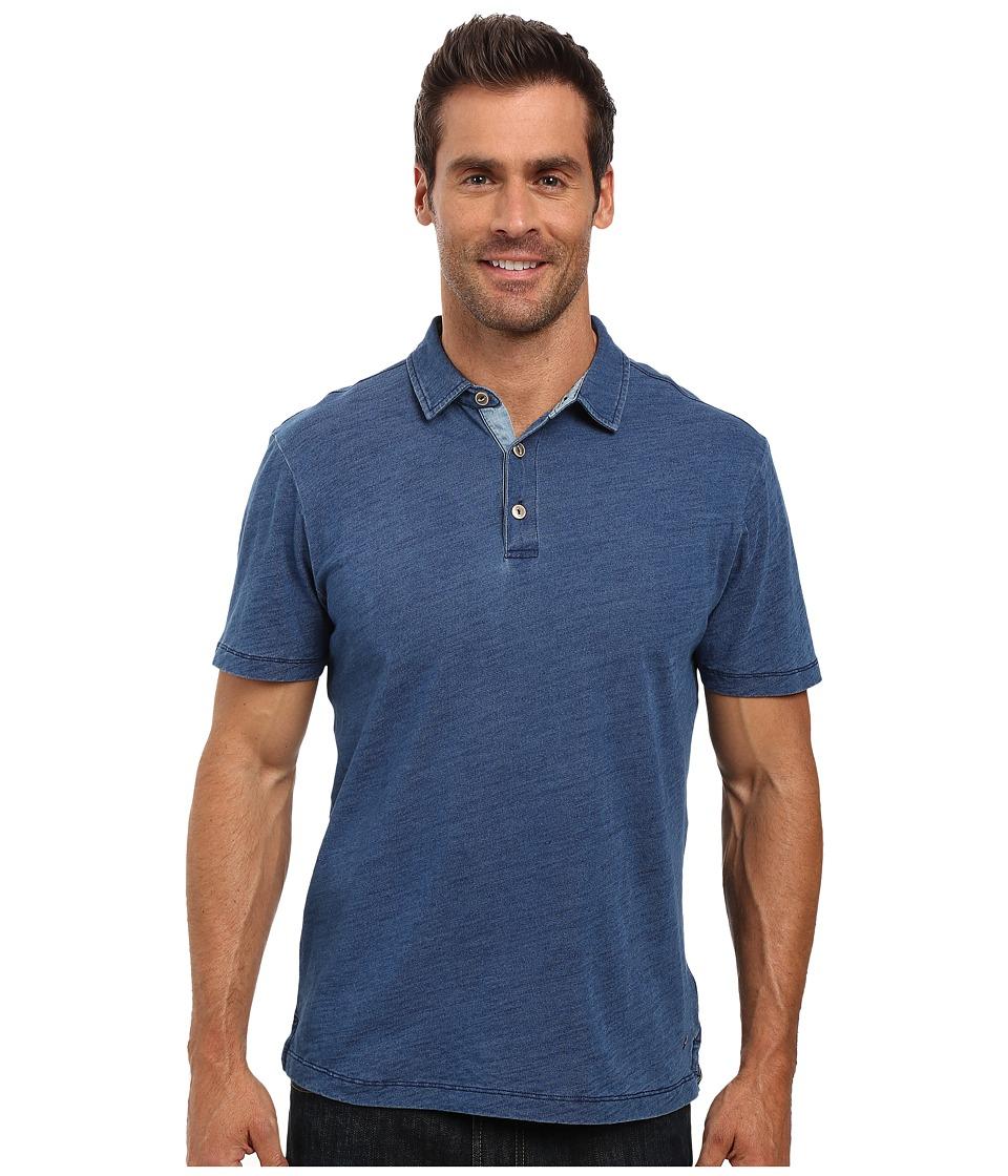 True Grit - Genuine Indigo Knit Short Sleeve Polo (Denim) Men's Short Sleeve Pullover