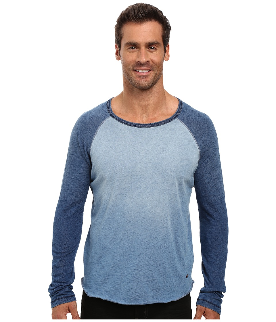True Grit - Genuine Indigo Knit Long Sleeve Slub Raglan Tee (Denim) Men's Long Sleeve Pullover