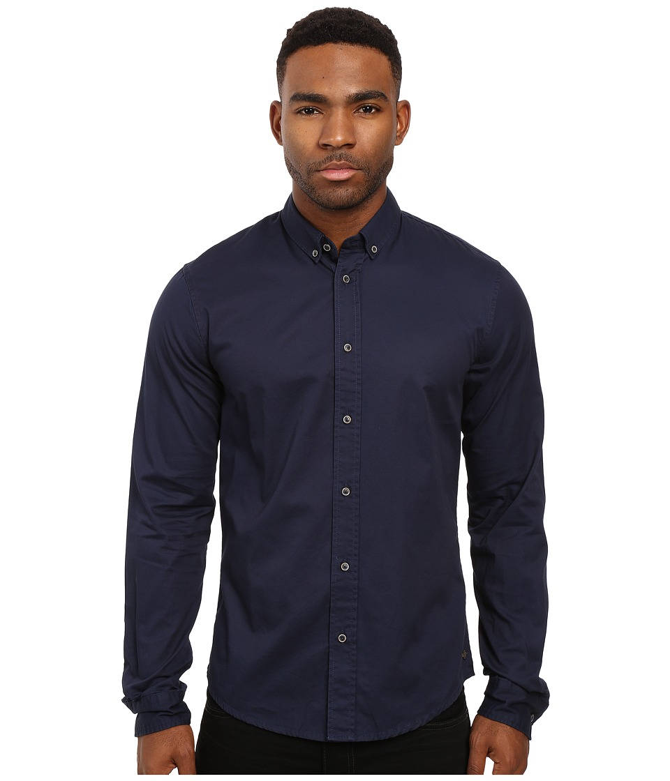 Scotch & Soda - Washed Shirt in Cotton Twill Quality (Denim Blue) Men's Clothing