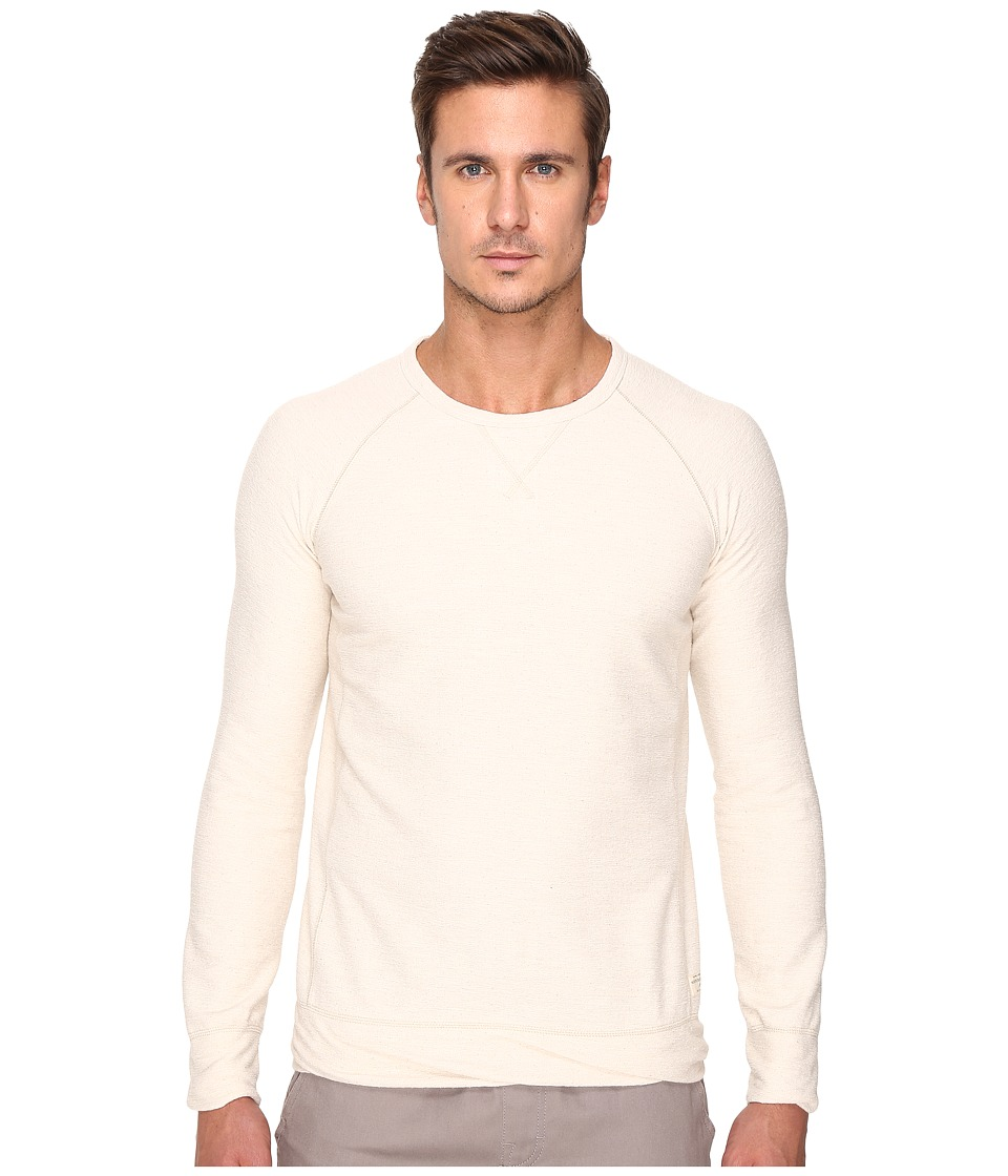 Scotch & Soda - Long Sleeve Tee in Dry Towelling Quality (Ecru Melange) Men's T Shirt