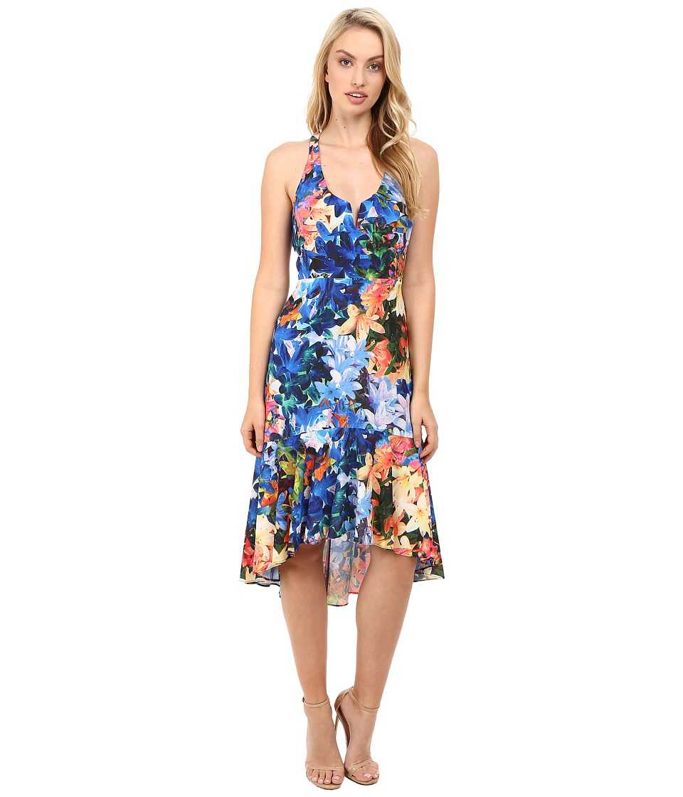 Nicole Miller - Tie-Dye Flowers Saturday Dress (Multi) Women's Dress