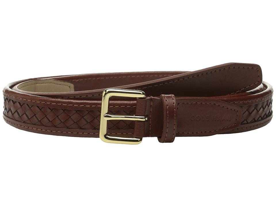 Cole Haan - 20mm Woven Belt with Harness Buckle (Sequoia) Women's Belts