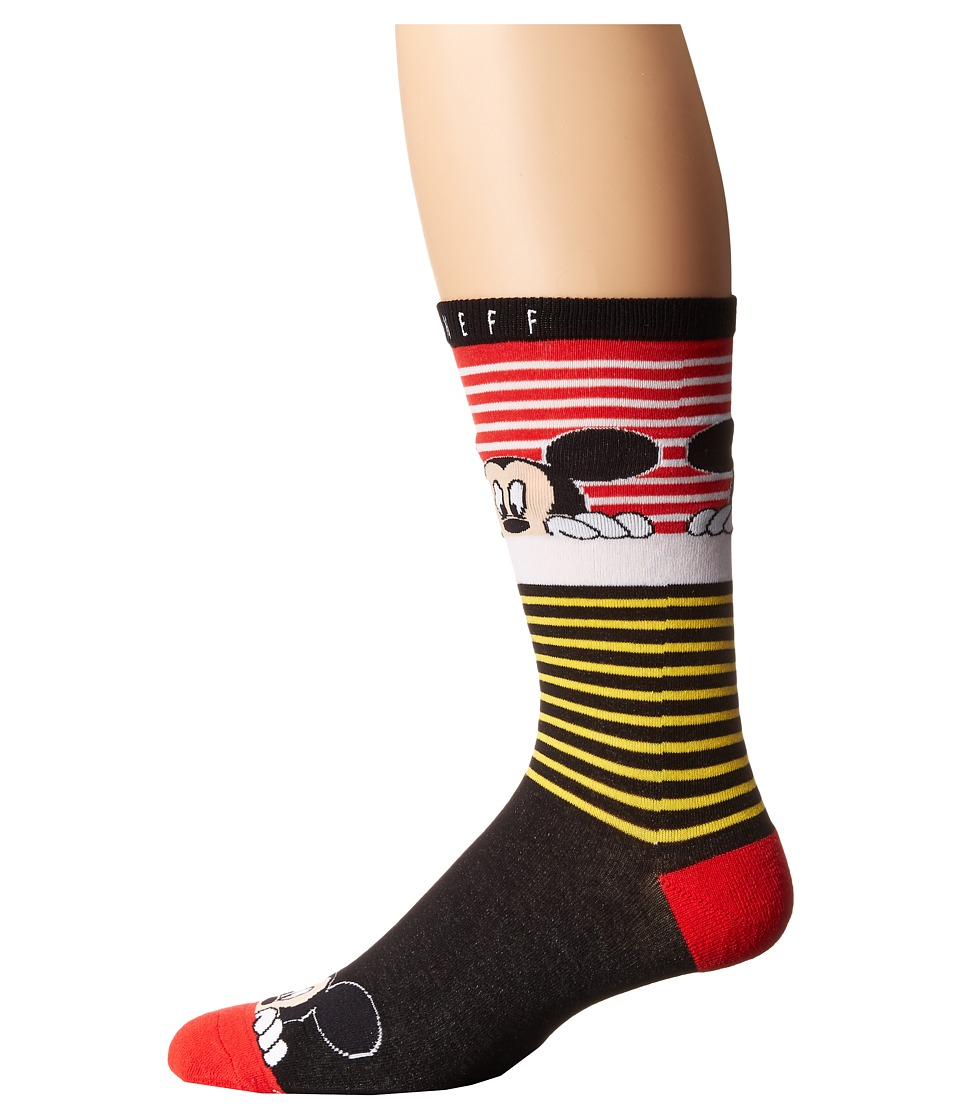 Neff - Peek Mickey Sock (Red) Men's Crew Cut Socks Shoes