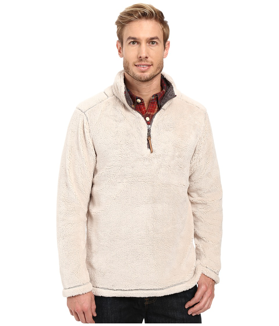 True Grit - Pebble Pile 1/4 Zip Pullover (Ivory) Men's Long Sleeve Pullover