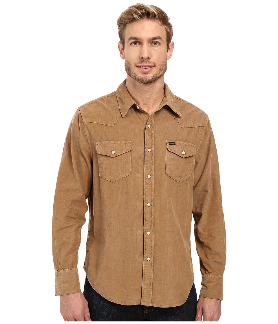 True Grit - Jackson Cord Long Sleeve Two-Pocket Western Shirt (Dark Rye) Men's Clothing