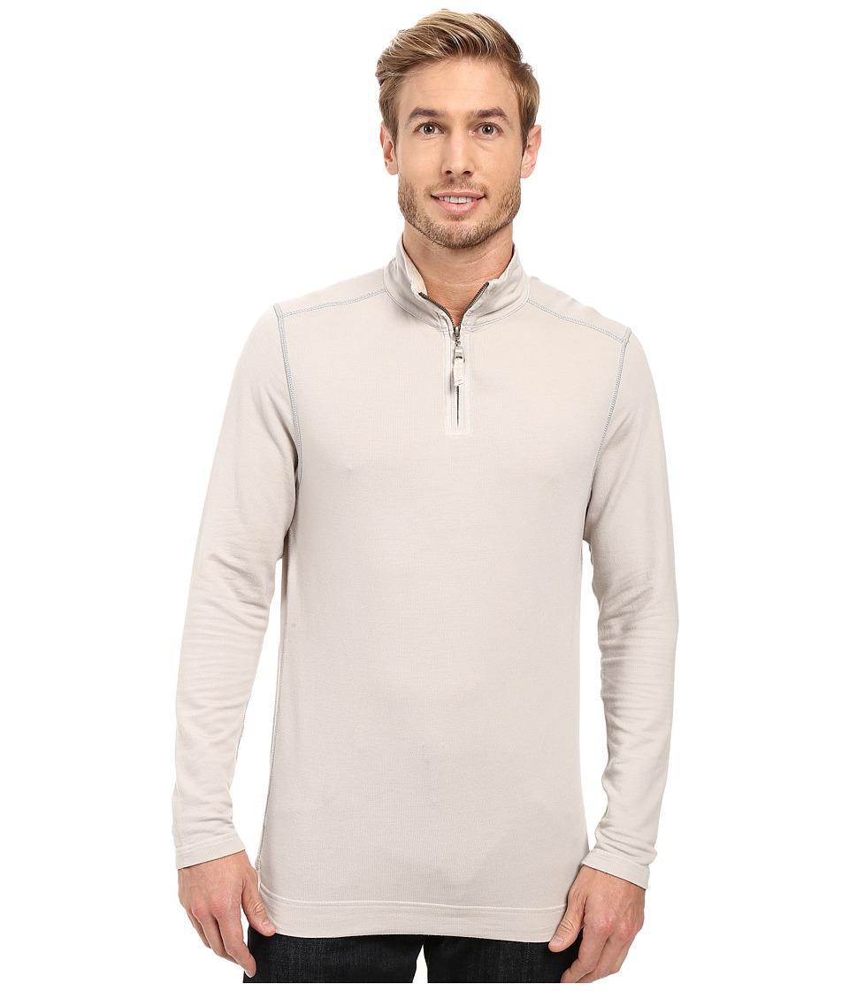 True Grit - Lightweight Tencel 1/2 Zip Pullover (Smoke) Men's Clothing