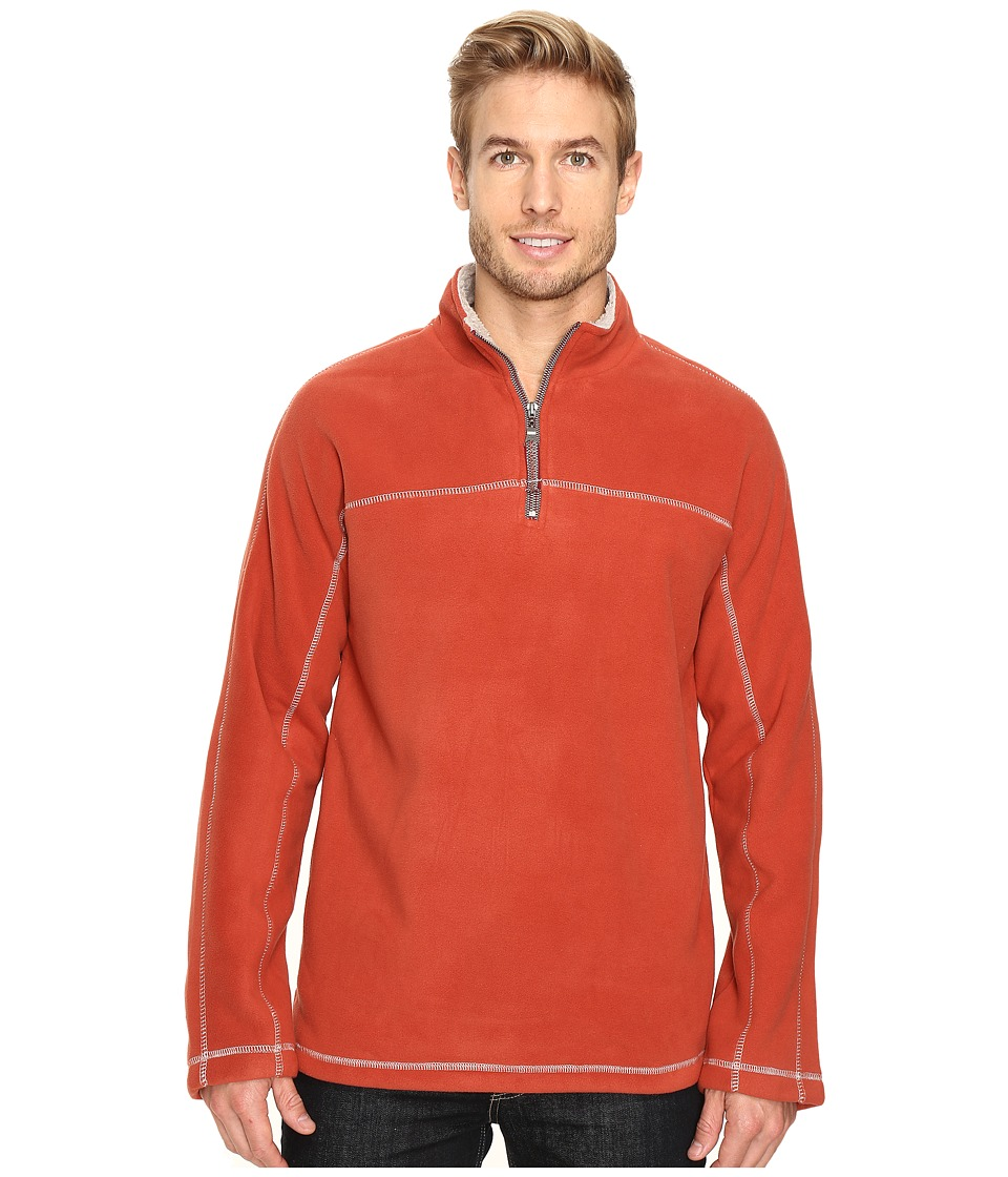 True Grit - Outback Fleece 1/4 Zip Pullover (Spice) Men's Fleece