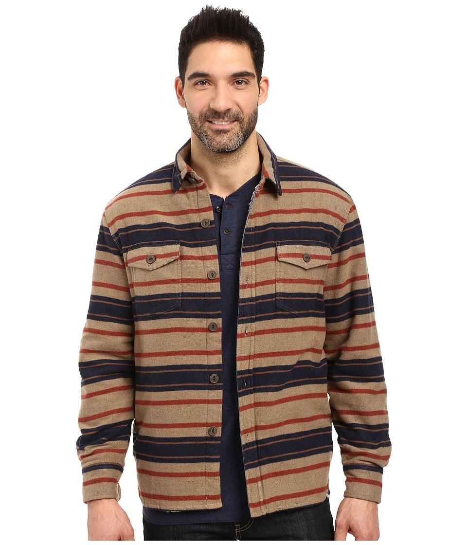 True Grit - Summit Baja Stripe Shirt Jacket with Sherpa Lining (Multi) Men's Coat