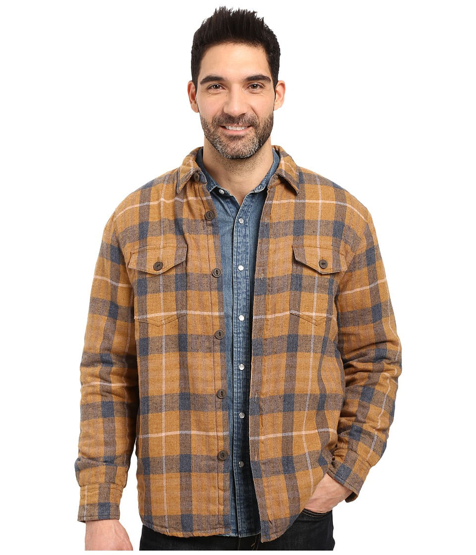 True Grit - Summit Baja Plaid Shirt Jacket with Sherpa Lining (Tobacco) Men's Coat