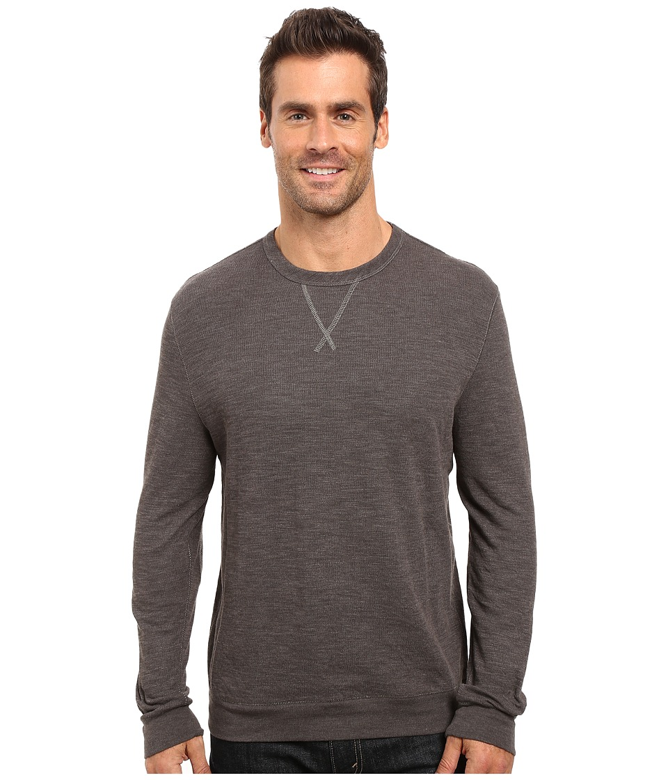 True Grit - Double Side Slub and Knit Crew Neck Sweatshirt w/ Stitch Details (Vintage Black) Men's Clothing