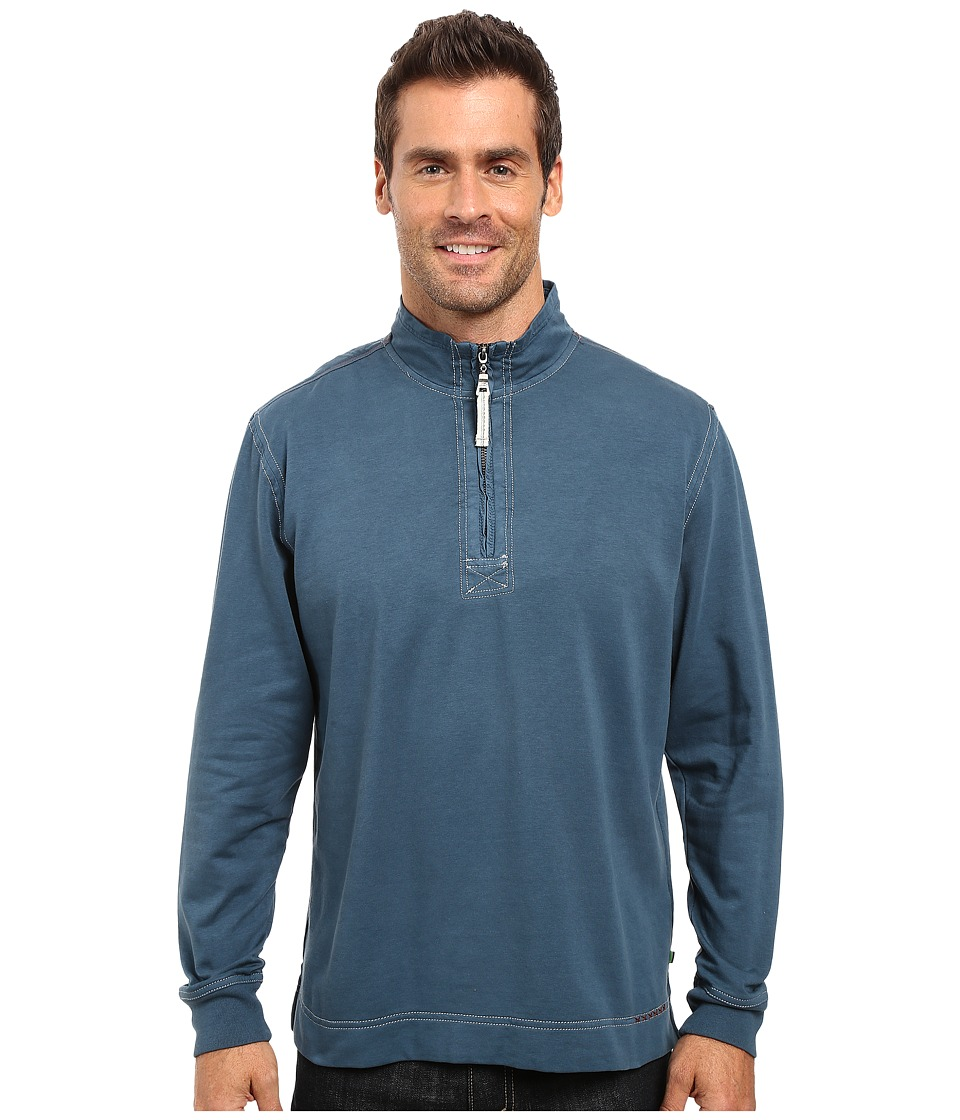 True Grit - Cashmere Heather Fleece 1/2 Zip Pullover (Industrial Blue) Men's Fleece