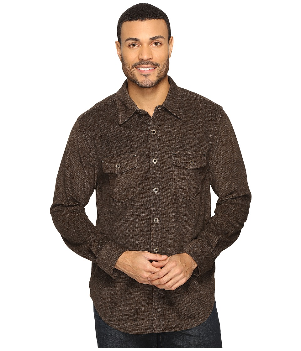 True Grit - Sueded Tweed Long Sleeve Two-Pocket Shirt (Light Brown) Men's Clothing