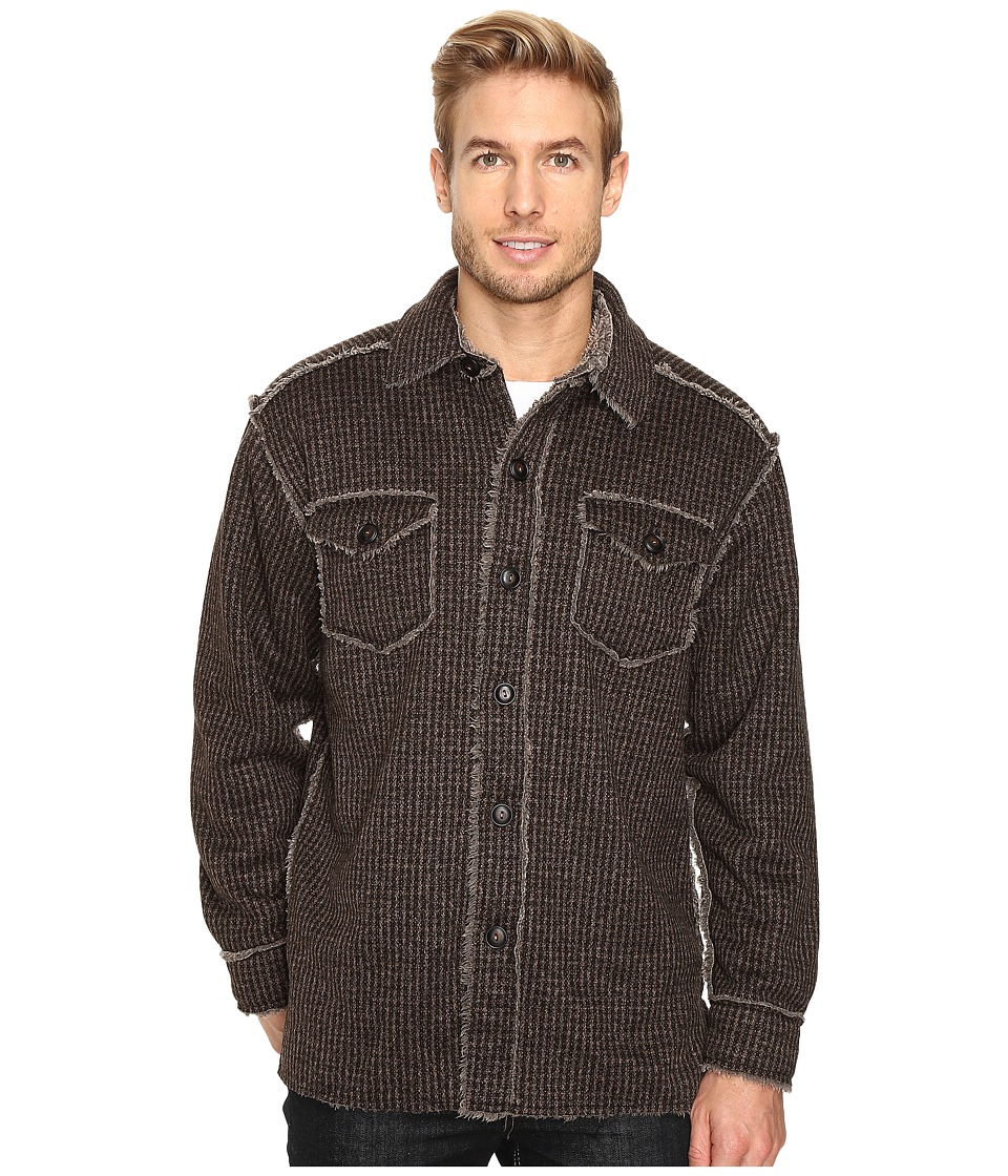 True Grit - Tweed Sherpa Button Jacket (Vintage Brown) Men's Coat